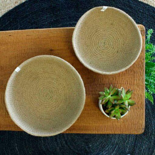 medium and large jute bowl