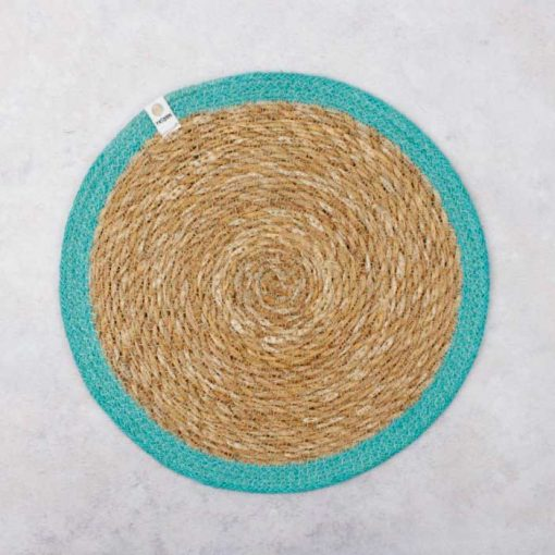 tablemat in turquoise