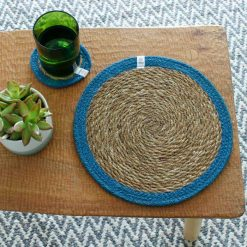 seagrass tablemat on a dining table