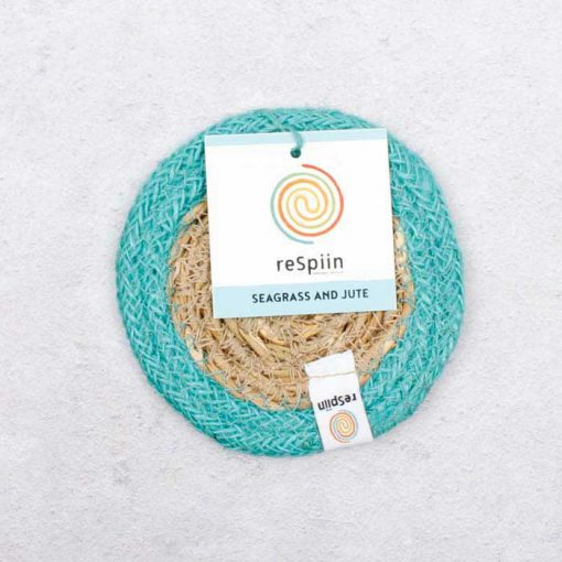 coaster with turquoise border