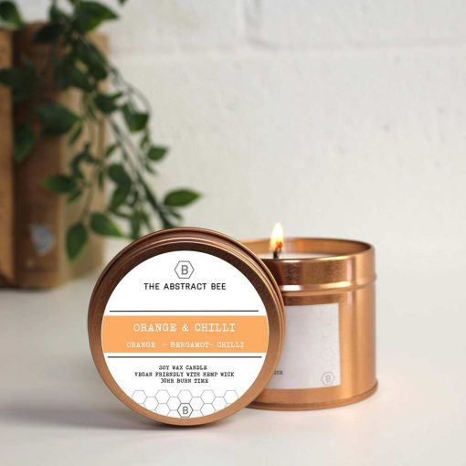 soy candle in tin