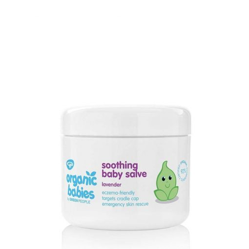 organic baby salve on a white background