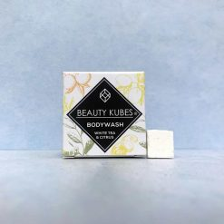 plastic free body wash cubes on kitchen surface