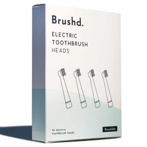 4 pack of recyclable electric toothbrush heads