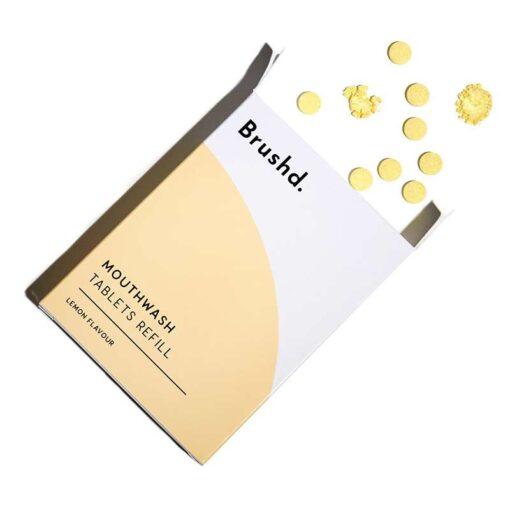 mouthwash tablets in cardboard box