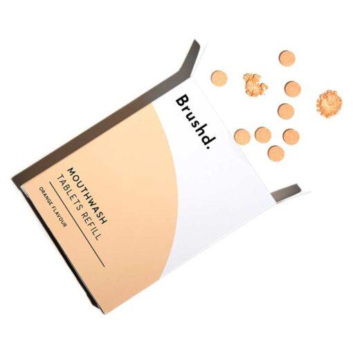 mouthwash tablet refills in orange flavour
