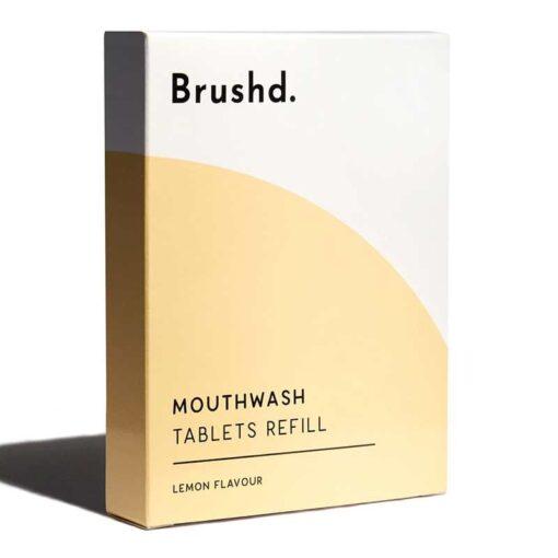 mouthwash tablet refills in cardboard packaging
