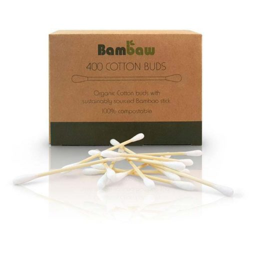biodegradable cotton buds in box