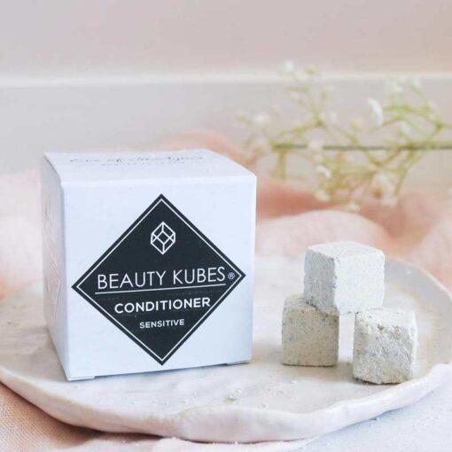 sensitive conditioner cubes in cardboard box