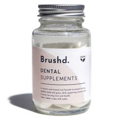 dental supplements in glass jar
