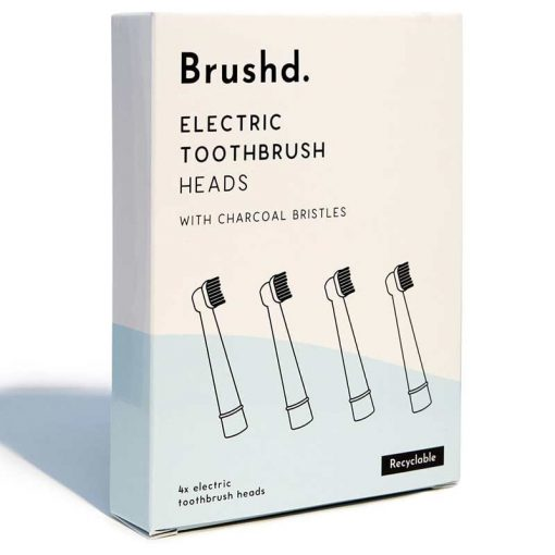 oral b recyclable electric toothbrush heads in cardboard packaging