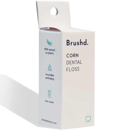 plastic free dental floss in cardboard packaging
