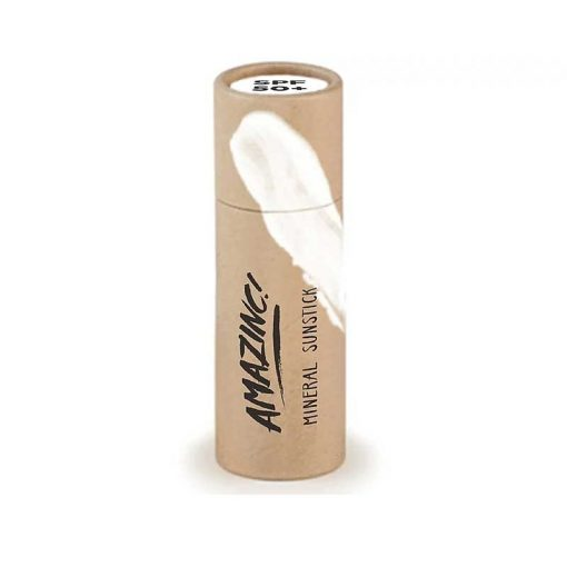 mineral sunblock stick in cardboard tube