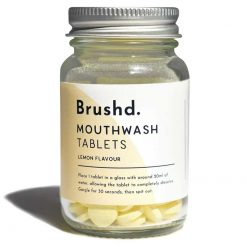 lemon plastic free mouthwash tablets product shot