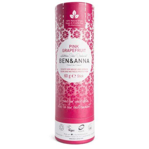 ben and anna deodorant stick in pink grapefruit