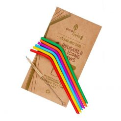 silicone straws in bright colours