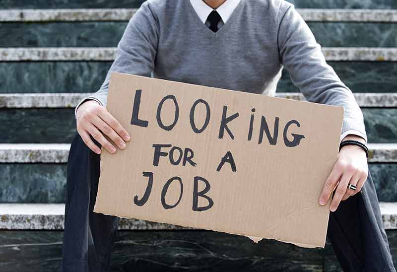 unemployed man looking for a job
