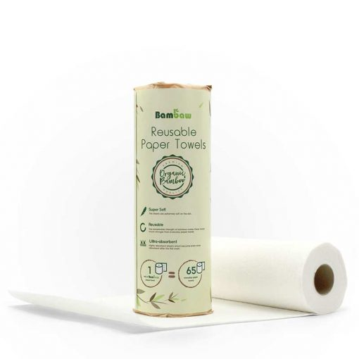reusable kitchen roll in cardboard tube