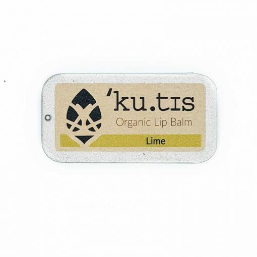 organic lip balm scented with lime