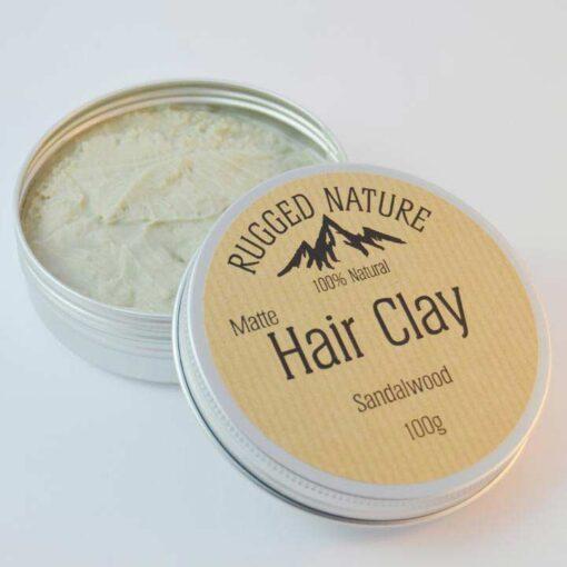 natural hair clay sandalwood