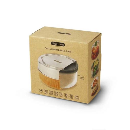 glass lunch bowl in cardboard packaging
