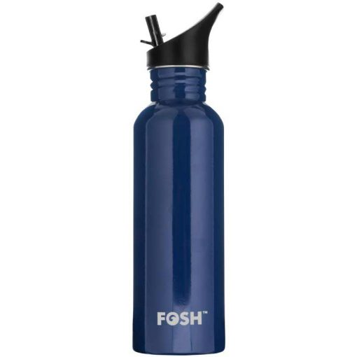sports lid water bottle in indigo