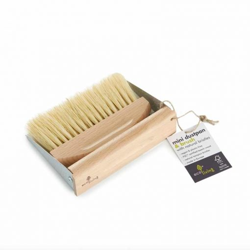 mini dustpan set made from wood