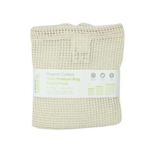 organic cotton mesh bags in packaging