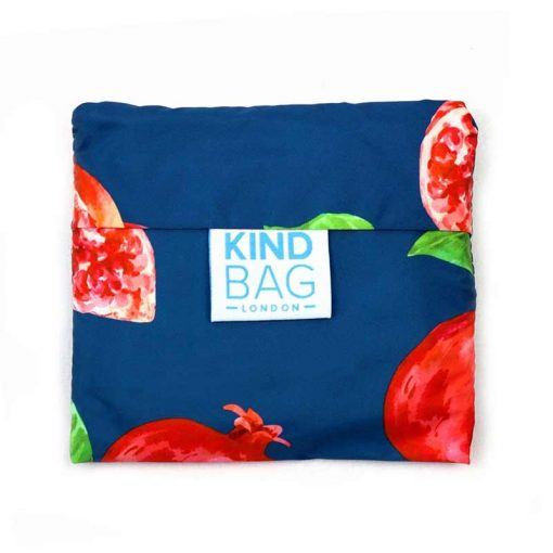 folded pomegranate shopping bag