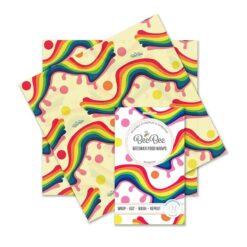 rainbow sandwich pack beeswax wraps