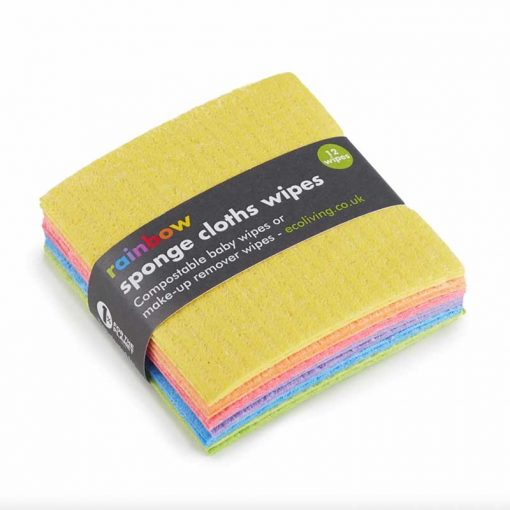 rainbow sponge cloth wipes