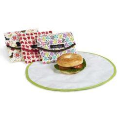 reusable food wrap next to bagel