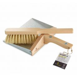 wooden dustpan and brush with magnets