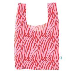 reusable bag in zebra print