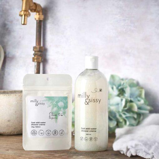 zero waste shower creme