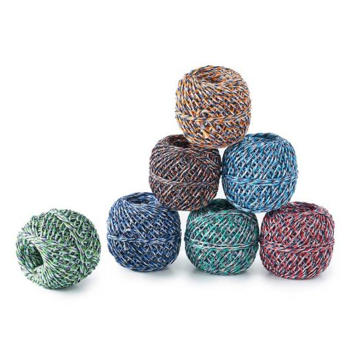 recycled twine in different colours