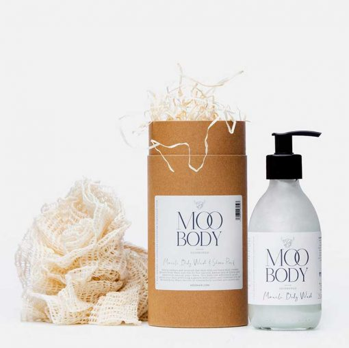 body wash gift tube from moo hair