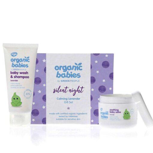 organic baby gift set lavender