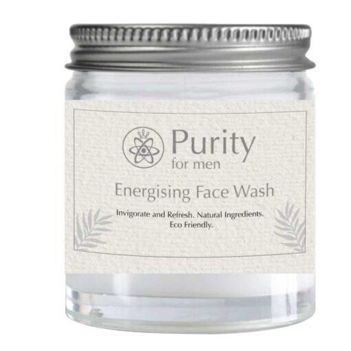 mens plastic free face wash