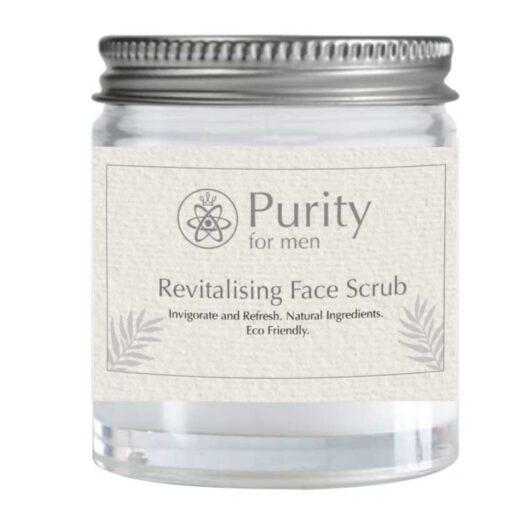 mens plastic free face scrub