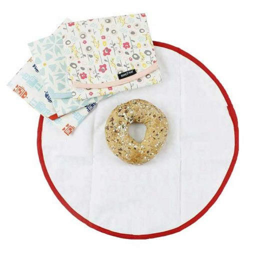 reusable food wrap with a bagel in it