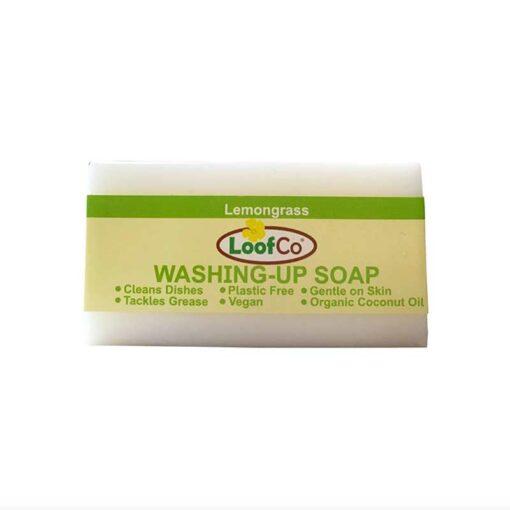 washing up soap bar with lemongrass