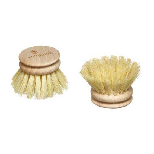 wooden dish brush head
