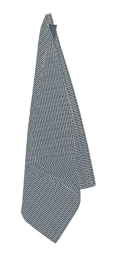 grey blue hanging wash cloth