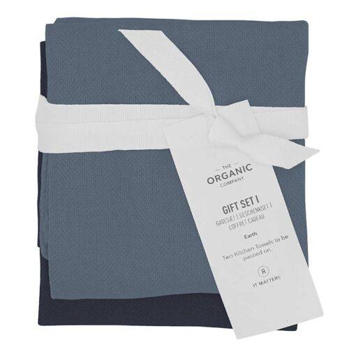 organic cotton kitchen towel gift set