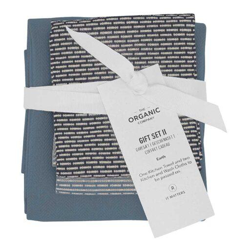 organic kitchen towel and wash cloth gift set