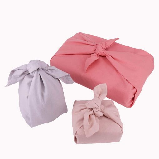 gift wrapping set in coral colours