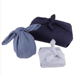 fabric wrapping set in blue