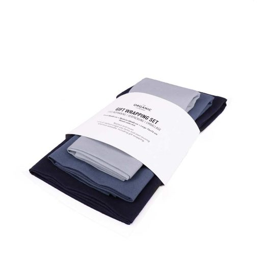 blue fabric wrapping set in packaging