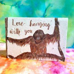 love hanging with you birthday card